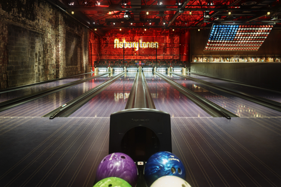 Asbury Lanes bowling alley.