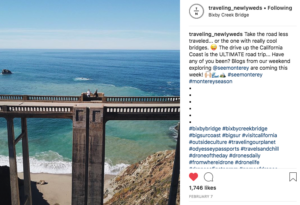 Image of a screen shot picturing a very high bridge above Monterey Bay. Comments from truelane on the right.