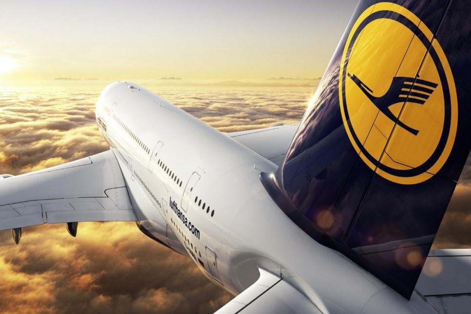 Lufthansa plane.