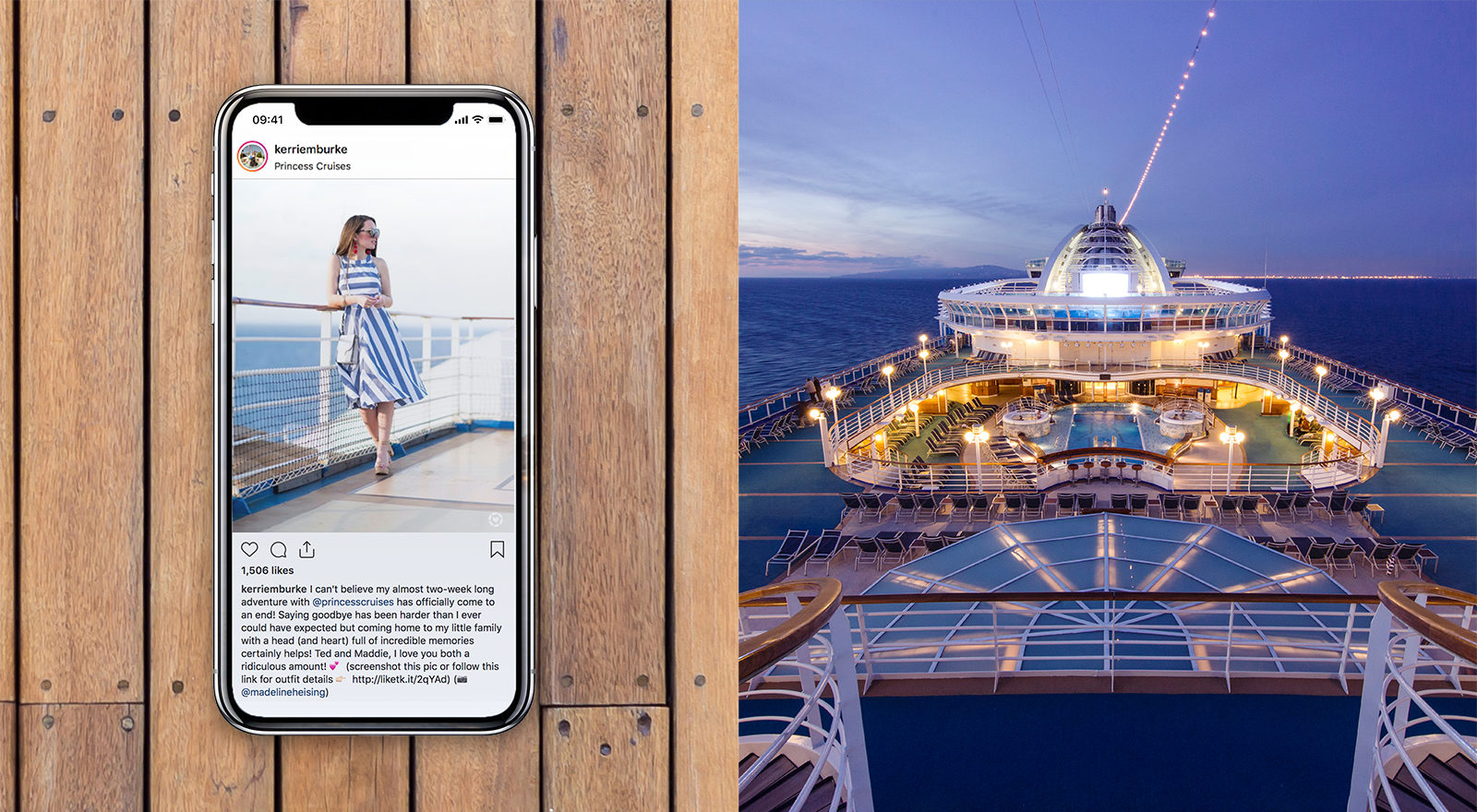 Cruise ship and iphone.
