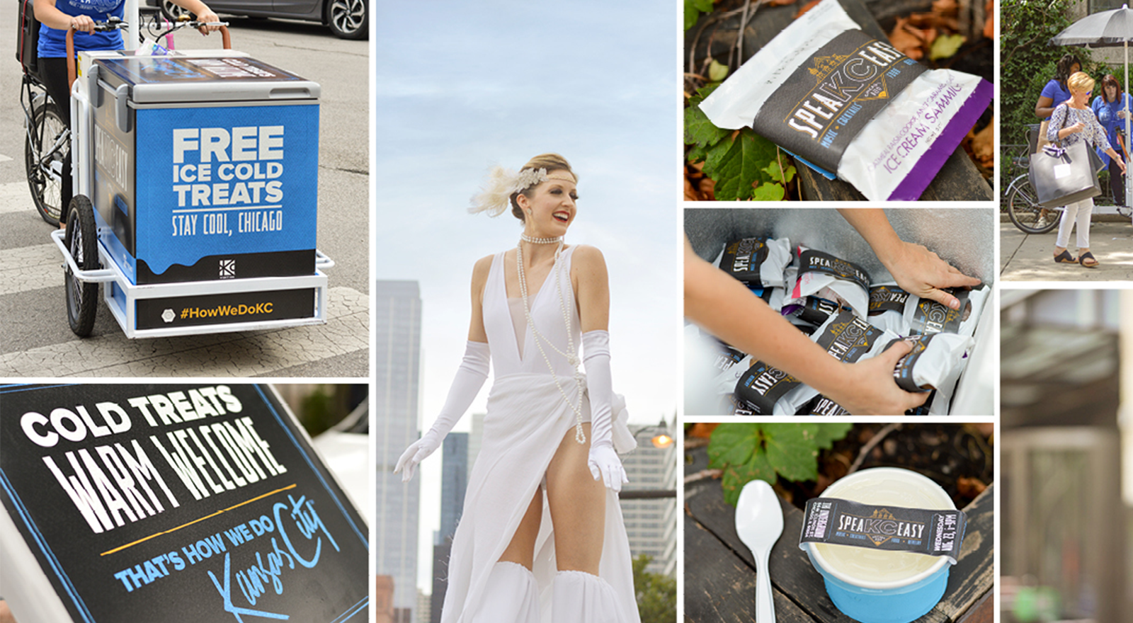 Collage of images from VisitKC activation.