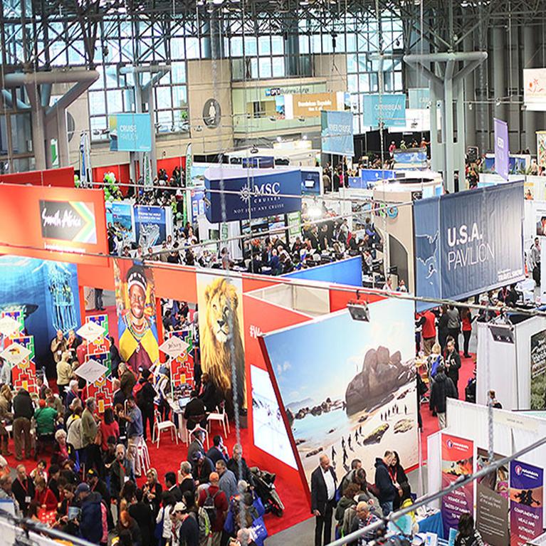 NY Times travel show floor