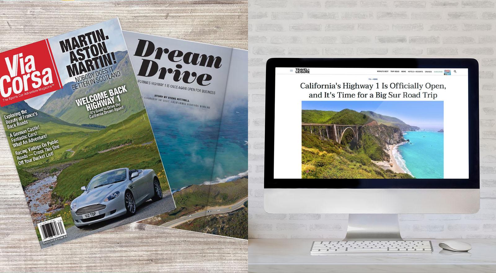 Dream Drive Magazine and Laptop